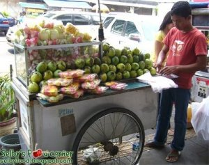 Some fruit to ease the heat/chilli on the tongue?